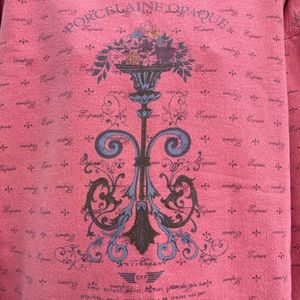 Vintage Express Pink Sweatshirt French Country